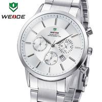 GAGA! WEIDE Watches Men Quartz Sports Watch Diver Luxury Brand Men Full Steel Complete Calendar Famous Waterproofed WH3312