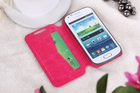 Common mobile phone leather case with 3.0 ~ 5.5 inch size and various colors
