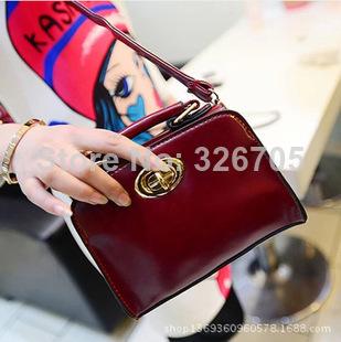 PU leather bag handbag colorful Rubik Cube Bag Hot Love Personalized handbag chain bag+free shipping(China (Mainland))