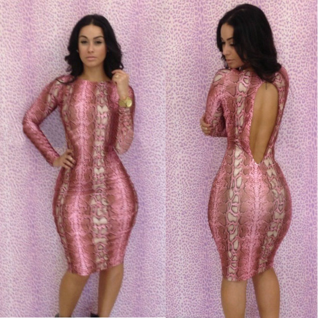 Free Shipping summer dress 2014 Lady's Bandage dress Women Printed Sexy dresses Bodycon Casual Clothing Nightclub dresses(China (Mainland))
