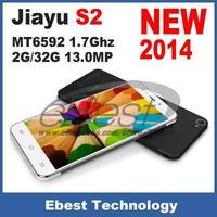 In stock original jiayu S2 wcdma 3G phone octa core MT6592 1.7Ghz 2G/32G 13.0MP 5.0 Inch IPS Gorilla 1920*1080 Russian language