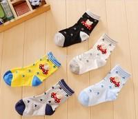 2014 new style unisex kids spring and autumn cartoon bear socks
