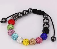 Free Shipping New fashion Jewelry Infinity Blessing wish bracelet for women girl ladie's one direction Shamballa Bracelet