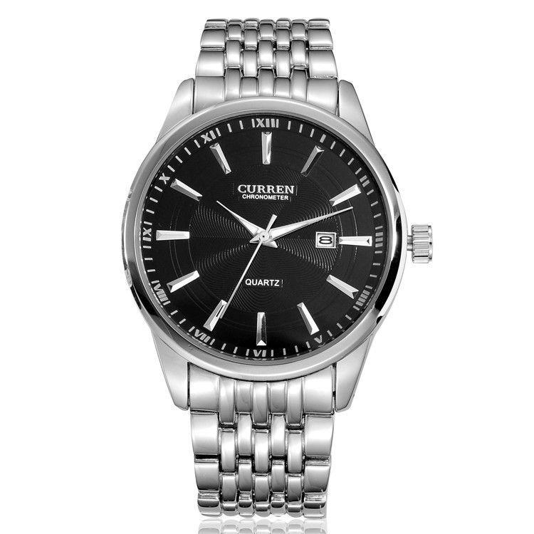 New Design Formal CURREN Branded Watches,Men full steel watch Quartz Analog Auto Date Men's Watches(China (Mainland))