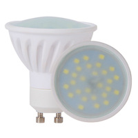 6W Led Bulbs GU10 450lm Warm White Ceramic 120 Beam Angle 28 SMD2835 45w Replacements 10 PCS