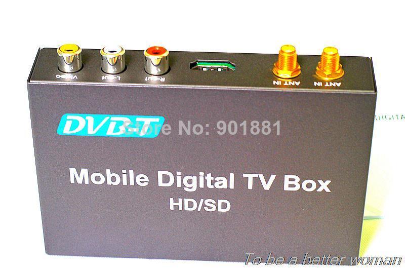 2014 NEW car dvb-t mpeg4 receiver 40 KM dual tuners HD1080P H.264 MPEG1-4 timeshifting HDMI USB 2.0 RCA AV input MPG MKV AVI MOV(China (Mainland))