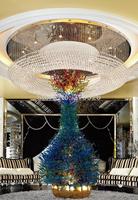 FEDEX DHL dia 80cm x 40cm lobby home hotel restaurant  hall decoration luxury K9 round shape crystal chandelier lamp 110V-240V