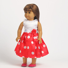 Free shipping hot 2014 new style Popular 18 American girl doll clothes dress w03