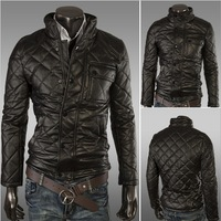 Free shipping 2014 Spring Winter Plus Size Leather Jacket Male Slim Type Thickening Outerwear Thermal Large Men'S Clothing