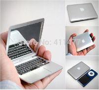 Free Shipping Apple Macbook Air Design Portable Compact Pocket Mini Make Up Cosmetic Mirror 2 Pcs