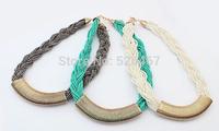 2014 New! Hand-woven beaded choker neklace women fashion Necklaces & Pendants statement collar jewelry wholesale