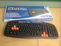 Free Shipping  105 keys USB PS/2  Wired Professional Gaming Keyboard Key Board for PC Computer Laptop  Desktops Game keyboard