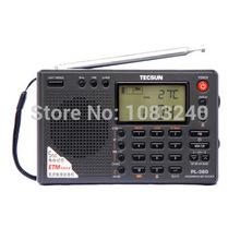 digital tecsun pl-380 portable mini am fm sw band radio receiver tv stereo lcd clock flashlight Large hybrid pointer shortwave
