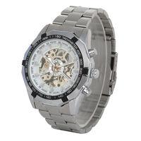 Fashion Stainless Steel Mechanical Automatic Self-Winding Analog Men's Wrist Watch
