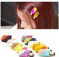 20pcs / lot free shipping  Korean Princess hairpin mini ice cream children hairpin, BB hair pin,hair accessory 014 new design