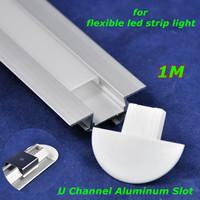 20pcs/lot, DHL/EMS,1M waterproof frost U shape silver aluminum slot for flexible soft led strip light SMD5050/7020/5630,Retail