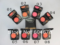 2PCS New 2014 Brand CC Makeup Powder blusher palette,blush duo tweed effect, maquiagem rouge, 8 different colors Free shipping
