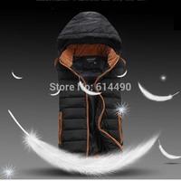 Fashion Warm Zipper Plus Size XXL Waist thickening coral fleece with a hood vest wadded jacket vest