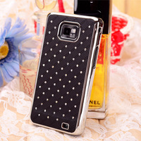 Luxury Bling Diamond Crystal Full Star Starry Case Cover For Samsung Galaxy S2 I9100 9100 Bling Rhinestone Shiny FS-i9100-02