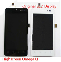 Highscreen Omega Q original  mobile Phone touch screen digitizer +lcd display with panel