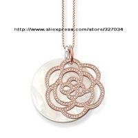 wholesale women gift  men gift necklacesKarma Beads necklaces tsa0112 flower and shell
