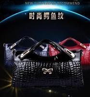 The new 2014 European and American fashion crocodile grain han edition leather handbag shoulder aslant bag cow leather handbag