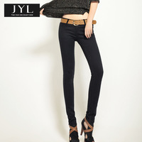JYL jeans New 2014 Autumn/Winter black skinny jeans women,black denim stretch vintage jeans pants,skinny black jeans for women