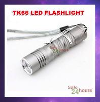 FREE SHIPPING! UltraFire TK66 CREE XP-E Q5 LED Flashlight Portable Mini Flashlight Torch For AA or 14500