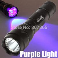 5Pcs Purple Light CREE XM-L T6 502 LED Flashlight Torch Huting Light  FREE SHIPPING