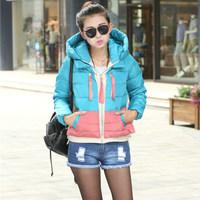 Women's winter coat 2014 new European style fashion ladies big yards thick lamb's winter jacket free shipping, hot