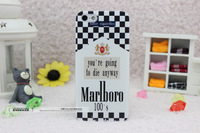 Free shipping+For iphone5 5s & 4 4s Marlboro Black and white squares phone cases for iphone 5 5s & 4 4s(no tracking number)