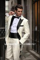 free shipping/custom MADE CHEAP White Long Style wedding Groom wear Tuxedos/Men's Suits/men dress/wedding party dress