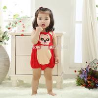 2014 New Cute Retail 1pc Baby Boy/Girl Cartoon Minnie/Mickey romper Short sleeves bodysuits Infants one-piece bodysuit