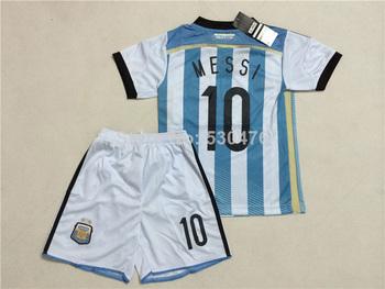 Argentina kids jerseys, 2014 world cup Argentina home jersey kids, Argentina MESSI / KUN AGUERO Home kids kit