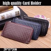 Genuine Leather Card Holder Cash Change Leather Card Case Coin Men Purse Hot Sale 100% Real Leather  2014 Men Card Holder