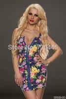 2014 Summer New Arrvial Plus Size Lady's Sexy  Baby Dolls Club Dresses Women's Fashion Apparel Girls' Office Dress Clubwear