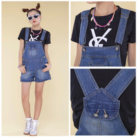 Summer shorts suspenders jumpsuit plus size preppy style jeans female dsd108-8675