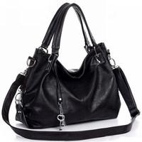 2014 women's fashion handbag one shoulder cross-body all-match black and brown tassel big bags B81