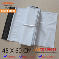45*60CM Thick White Self-seal Plastic Envelope Courier Disposable Destructive Postal Mailing Bags Poly Bag Packaging Postage Bag