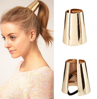 2014 New hot!Fashion belt gold metal headband horseshoers buckle hair rope hair accessory