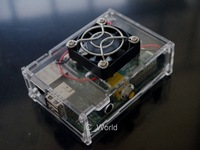 Latest Version!!! Raspberry Pi B Arcylic Clear Case Box Enclosure with Fan Aluminum Heatsink Kit