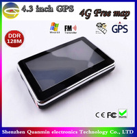 4.3inch Touch screen GPS Navigation,128RAM,Built-in 4G memory,Fm window CE 6.0,3D Map,2014 Newest map,Car navigation