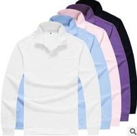 2014 autumn unisex shirts blank  polo  shirts  turn-down long sleeve Polo shirt design men's polo M-3XL free shipping #1501