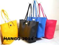 2014 mango women handbag vintage shoulder bag lady work bag gentlewomen elegant brand shoulder handbag tote bag female beach bag