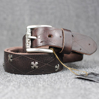 Soft Real leather Belt For Men's/women Vintage style designer belts 2014 Top sales,Fashionable joker pure leather belt