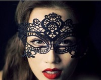 DHL Free shipping 100pcs cutout mask lace veil sexy prom fashion cutout mask blindages 2COLORS