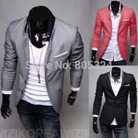 Paragraph male pocket blazer applique solid color 8419 blazer