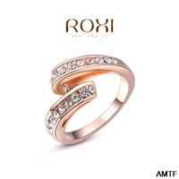 2014 Unisex Rushed Rings For Aneis Of The Jewelry Classic Genuine Austrian Crystals Fashion Kiss Fish Ring 100% Man-made Big Off