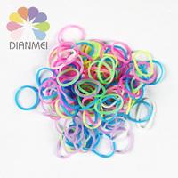 2014 Hot Sale 10packs/lot New Popular Loom Bands Bracelets Making Kit Refill Jelly Color Rubber Bands (600pcs Rubber Bands)