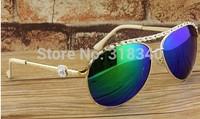 Color film polarized sunglasses women fashion sunglasses yurt small flower chain decoration women sunglasses fashion show online